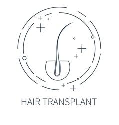 Hair transplant symbol vector image vector image
