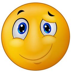 Happy emoticon smile vector