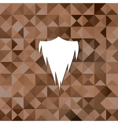 Hipster beard icontriangle background vector