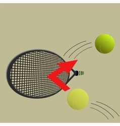 kick the ball vector image vector image
