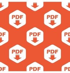 Orange hexagon pdf download pattern vector