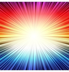 Rainbow radial stripes burst explosion background vector image