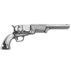 Revolver colt walker vector