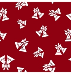 Seamless pattern with holiday jingle bells vector
