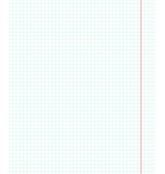 Sheet of paper in cage design paper for school vector