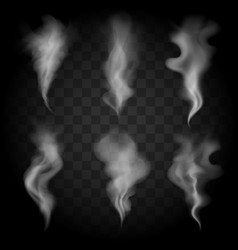 smoke wave set vector image vector image