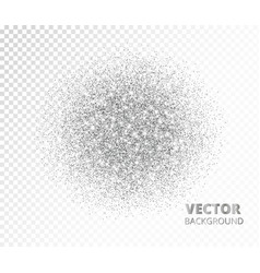 sparkling circle silver glitter explosion vector image vector image
