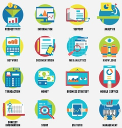 Web analytics information development website vector image vector image
