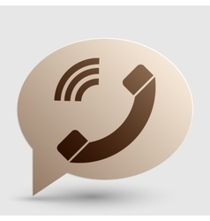 Phone sign  brown gradient icon on vector
