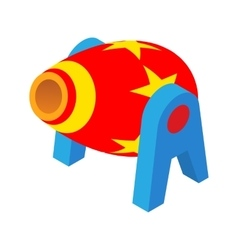 Cannon in the circus icon cartoon style vector