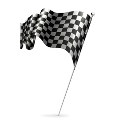 Waving flag checkered vector