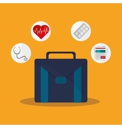 Suitcase and health care design vector