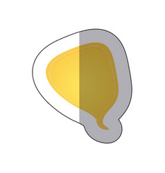 Yellow drop chat bubble icon vector