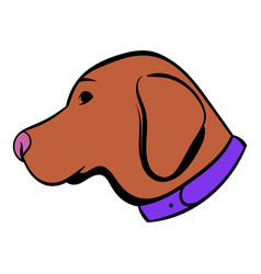 Hunting dog icon icon cartoon vector