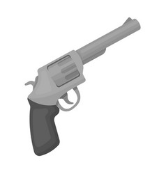 Pocket revolver the weapons detective for vector