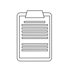 clipboard with paper icon image vector image