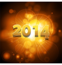 2014 glowing gold background vector