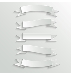 White paper banners and ribbons vector
