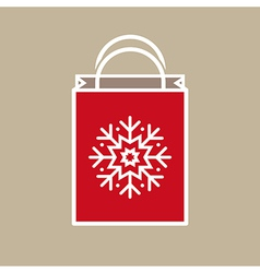 Christmas holiday gift bag vector