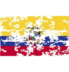 Flag of ecuador with old texture vector
