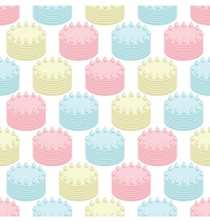 cakes seamless vector image