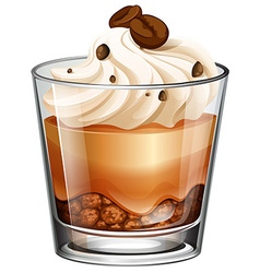 Coffee cake in glass vector