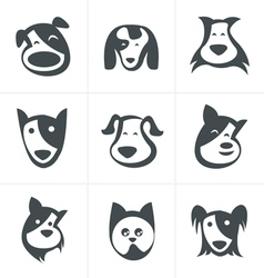 Fun dog icon vector