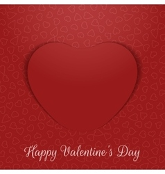 Valentines day realistic greeting card paper heart vector