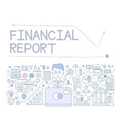 Financial report infographics vector