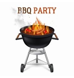 Portable barbecue grill vector