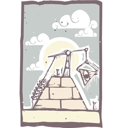 Masonic pyramid vector