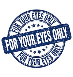 For your eyes only stamp vector