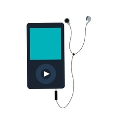 Portable music device icon vector
