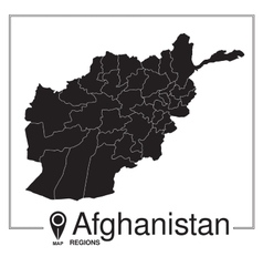 Afghanistan regions map vector
