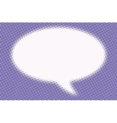 Comic bubble cloud is blurred vector