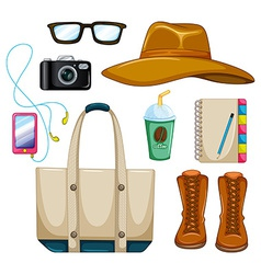 Accessories vector image vector image