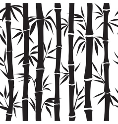 Bamboo pattern silhouette vector