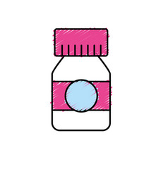 Bottle pills to medical treatment prescription vector