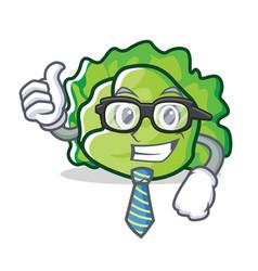 Businessman lettuce character cartoon style vector