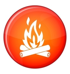 Campfire icon flat style vector