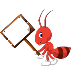 Cute ant cartoon vector