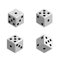 dice set in isometric 3d vector image vector image