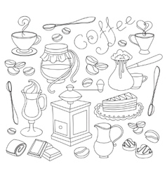 Doodle coffee vector image