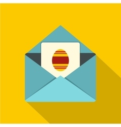 Easter card icon flat style vector
