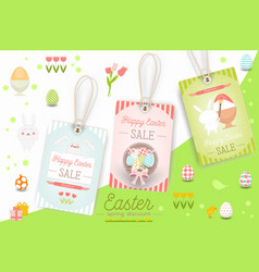 Easter sale tags vector