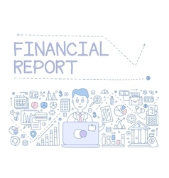Financial Report Infographics vector image