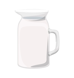 full color with glass jug vector image