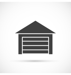 Garage icon on white vector image vector image