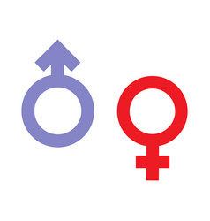Gender inequality and equality icon symbol male vector