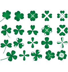 Green clover collection vector image